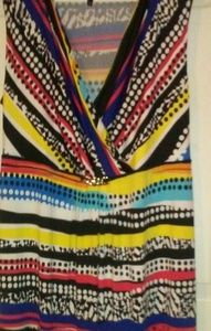 New Directions Multi Color Sleeveless Maxi Dress